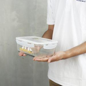 Super Lock กล่องถนอมอาหาร แก้ว Borosilicate ลายลิขสิทธิ์แท้มูมิน Moomin รุ่น 6090 กล่องใส่อาหาร 1,500 ML (6)